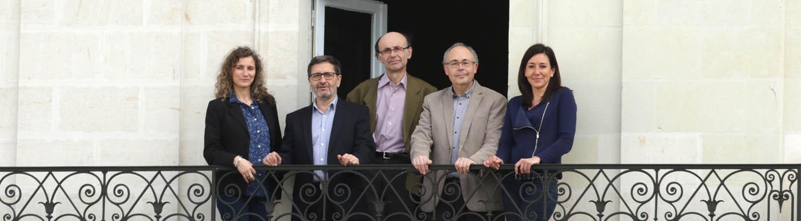 Photo de groupe des avocats Epitoge, Peggy Cugerone, Jacques-François Moreau, Corine Landreau, Jean-Charles Merand, Hervé Morvan